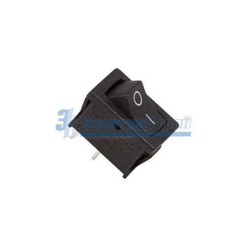Выключатель клавишный 250V 6А (2с) ON-OFF черный  Mini  REXANT