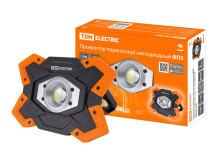 Прожектор переносной светодиодный ФП5, 15 Вт, 1250 лм, Li-Ion 3,7 B 6,6 A*ч, USB, TDM