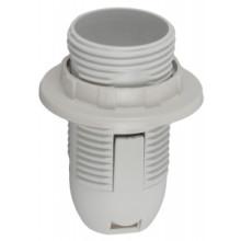 ЭРА Патрон Е14 с кольцом,пластик, белый (x50)