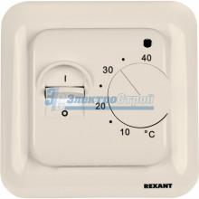 Терморегулятор механический с датчиком температуры пола (R70XT) (3500Вт) (бежевый) REXANT