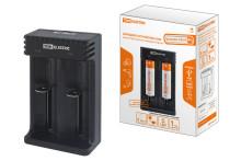 Зарядное устройство для литиевых аккумуляторов ION2 (0.5/1A, 2 слота, 10440/18650/26650), USB, TDM