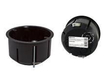Установочная коробка СП D73х45мм, саморезы, метал. лапки, IP20, инд. штрихкод, TDM
