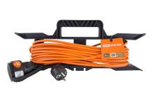 Удлинитель-шнур силовой на рамке УШз16 TDM (штепс. гнездо, 20м ПВС 3х1,0)