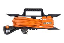 Удлинитель-шнур силовой на рамке УШз16 TDM (штепс. гнездо, 30м ПВС 3х1,0)