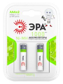 Аккумуляторная батарея ЭРА HR03-2BL 1000mAh