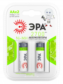 Аккумуляторная батарея ЭРА HR6-2BL 2700mAh