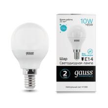 Лампа Gauss LED Elementary Globe 10W E14 4100K 1/10/100