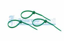 Хомут nylon 100 x 2,5 мм 25шт зеленый  REXANT