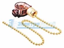Выключатель для настенного светильника с цепочкой 270 мм,  gold  REXANT