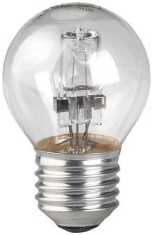 Лампа галогенная HAL-P45-42W-230V-E27-CL  ЭРА (галоген, шар, 42Вт, нейтр, E27)