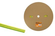 Термоусаживаемая трубка ТУТнг 12/6 желто-зеленая (100 м/ролл) TDM
