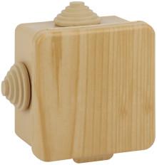 ЭРА Коробка распаячн. открытой установки КОР (сосна) 80х80х50мм с гермовводами 7 вх. IP54 (32/1152)