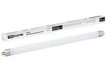 Лампа люминесцентная линейная двухцокольная ЛЛ-16/8 Вт, T5/G5, 6500 К, длина 302,5мм TDM
