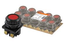 Выключатель кнопочный КЕ 011-У2-исп.2  красный 1з+1р 10A 660B IP40 TDM