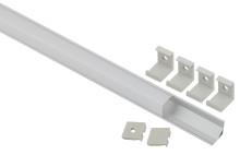 1616S  ЭРА Комплект с угловом анодированным профилем CAB280 16х16мм, 2м и квадр