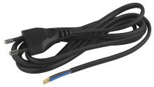 BR1(B) ЭРА Шнур для бра 2x0.75мм2 1,8м без выкл черный (20/100/2400)