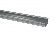 DIN-рейка усиленная 35х15х1,2х600мм оцинкованная TDM