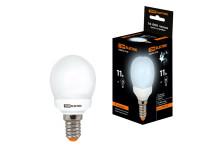 Лампа энергосберегающая КЛЛ-G45-11 Вт-4000 К–Е14 TDM