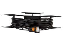Удлинитель-шнур на рамке силовой народный ПВС 1300 Вт б/з, 10м, штепс. гнездо