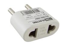 Переходник (тип CEE 7/17 - тип А/F) плоский 10А макс. 250В белый TDM