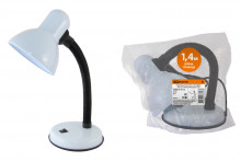Светильник настольный на основании 60Вт, E27 белый (мягкая упак.) TDM