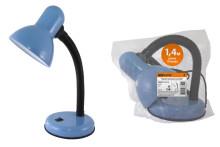 Светильник настольный на основании 60Вт, E27 синий (мягкая упак.) TDM