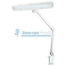 Настольная лампа на струбцине 84 LED, с сенсорным управлением, белая REXANT