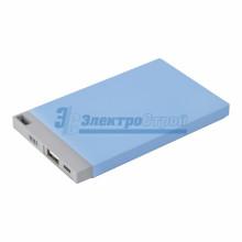 Портативное зарядное устройство Power Bank 4000 mAh USB PROconnect (ЦВЕТ ГОЛУБОЙ)