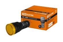 Лампа AD-16DS(LED)матрица d16мм желтый 36В AC/DC TDM