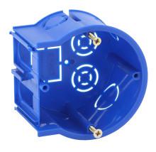 ЭРА Подрозетник концевой UniPost 68х45мм для твердых стен синий IP30 (160/3200)
