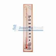 Термометр для сауны, основание - дерево 60х300 мм REXANT