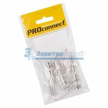 РАЗЪЁМ  штекер  BNC  под винт  с пружиной  металл  PROCONNECT Индивидуальная упаковка 3 шт