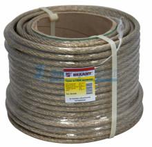 Трос стальной в ПВХ изоляции d=10.0 мм, катушка 50 метров  REXANT