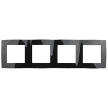 12-5004-06  ЭРА Рамка на 4 поста, Эра12, чёрный
