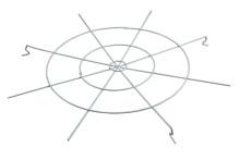 Решетка защитная для ГСП/ЖСП/РСП 99 d=410 мм TDM