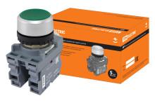 Кнопка MP1-20G в сборе d22мм 1з+1р зеленая TDM