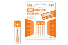 Аккумулятор AAA-1000 mAh Ni-MH BP-2 TDM