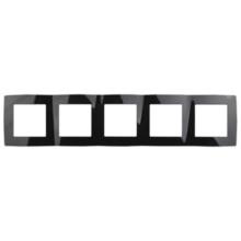 12-5005-06  ЭРА Рамка на 5 постов, Эра12, чёрный