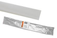 Термоусаживаемая трубка ТУТнг 40/20 белая по 1м (25 м/упак) TDM