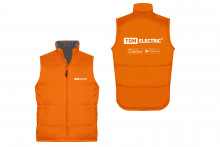 Жилет утеплённый оранжевый (XL) TDM