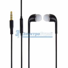 Наушники пластмассовые черные с микрофоном J5