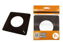 Одноместная защитная рамка для выключателей или розеток для защиты обоев 130х130 мм, шоколад TDM