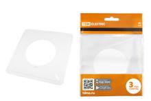 Одноместная защитная рамка для выключателей или розеток для защиты обоев 130х130 мм, прозрачная TDM