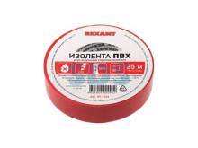 Изолента 19 мм х 25 м, красная (упак. 5 роликов)  REXANT