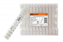 Зажим винтовой ЗВИ-80 полипропилен 6-25мм2 12пар 100°С белый (индивидуальная упаковка) TDM