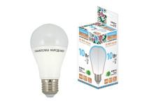 Лампа светодиодная НЛ-LED-A60-10 Вт-230 В-6500 К-Е27, (60х112 мм), Народная