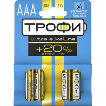 Элемент питания  Трофи LR03-4BL ULTRA