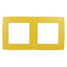 12-5002-21  ЭРА Рамка на 2 поста, Эра12, жёлтый