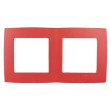12-5002-23  ЭРА Рамка на 2 поста, Эра12, красный