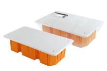 Распаячная коробка СП 172х96х45мм, крышка, IP20, инд. штрихкод, TDM